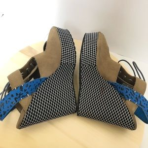 8d94aae5c1e5 adidas Shoes - Adidas X Opening Ceremony Fishnet Wedge Heels